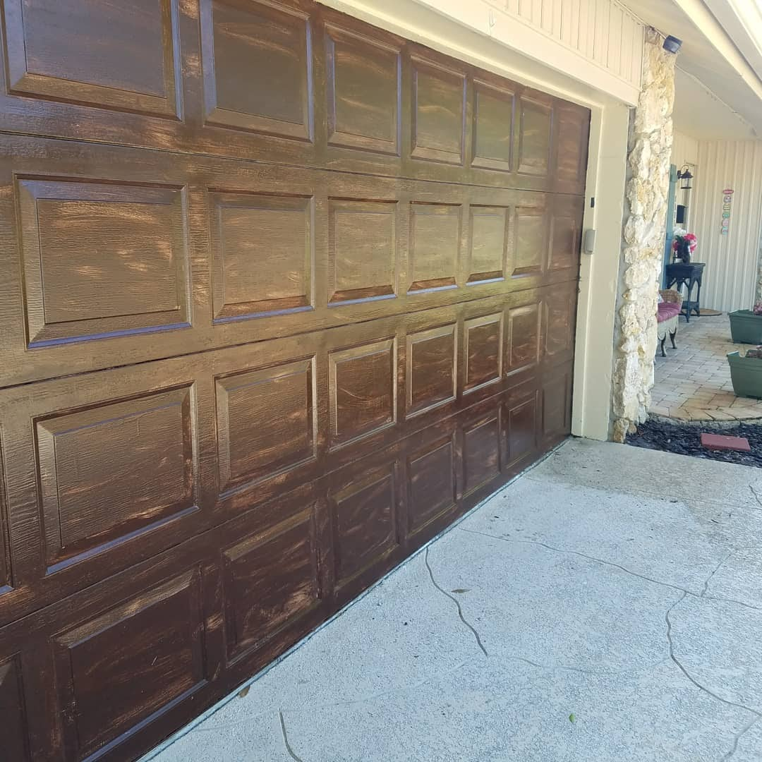 Pressure Washing And Gel Stain On Garage Door House Projects